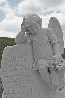 Sad Photograph - Tombstone Angel For An Angel by Christine Till