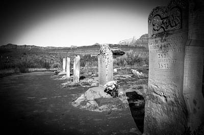 Photograph - Tombstones by Michael Damiani