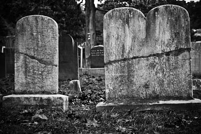 Photograph - Tombstones - Sleepy Hollow Cemetery by Colleen Kammerer