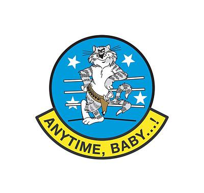 Digital Art - Tomcat Anytime Baby by The Grumman Store
