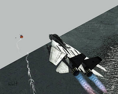 Digital Art - Tomcat Kill by Walter Chamberlain