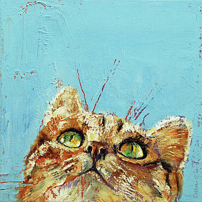 Cat Cartoon Painting - Tomcat by Michael Creese