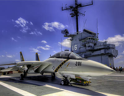 Airplane Photograph - Tomcat On Deck by Tim Stanley