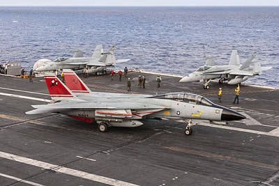 Photograph - Tomcatters Aboard The Uss Theodore Roosevelt by Liza Eckardt