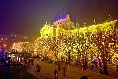 Photograph - Tomislav Square In Zagreb Advent View by Brch Photography