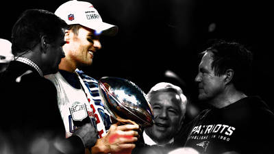 Mixed Media - Tom Brady Another Superbowl by Brian Reaves