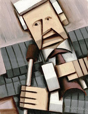 Painting - Tommervik Abstract Cubism Bob Barker Pop Art Print by Tommervik