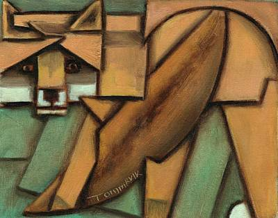 Painting - Tommervik Abstract Fox Art Print by Tommervik