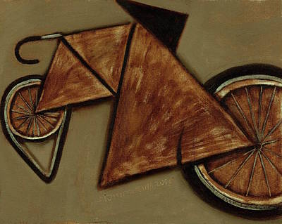 Print featuring the painting Tommervik Art Bicycle Bike Art Print by Tommervik