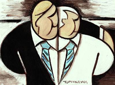 Painting - Tommervik Abstract Donald Trump And Mike Pence Art Print by Tommervik
