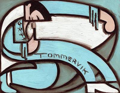 Painting - Tommervik Elvis Blue Jump Suit  by Tommervik