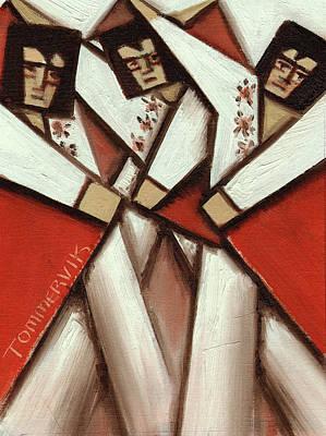 Painting - Tommervik Elvis Impersonators Red Capes Art Print by Tommervik