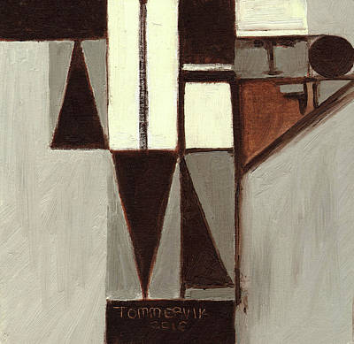 Painting - Tommervik Geometric Baseball Pitcher  by Tommervik