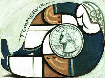 Painting - Tommervik George Washington Quarter Art Print by Tommervik