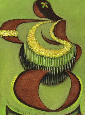 Print featuring the painting Tommervik Hula Dancer Hawaii Art Print by Tommervik