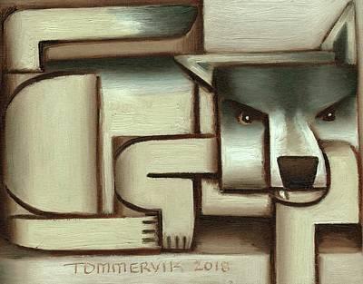 Painting - Tommervik Lone Wolf Art Print by Tommervik