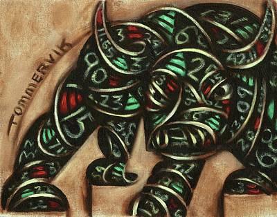 Painting - Tommervik Stock Ticker Bull Market Art Print by Tommervik