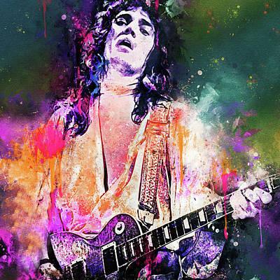 Digital Art - Tommy Bolin Deep Purple Portrait by Yury Malkov