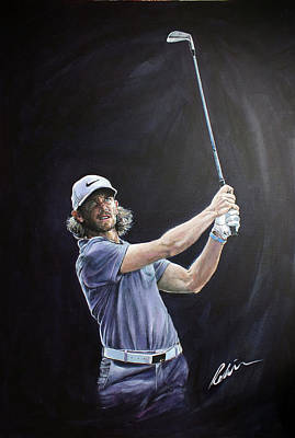 Painting - Tommy Fleetwood by Mark Robinson