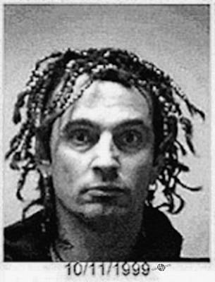 Tommy Lee Motley Crue Mug Shot Black And White Vertical Original