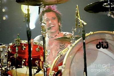 Photograph - Tommy Lee Painting by Concert Photos