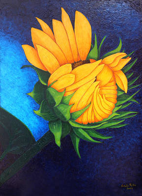 Girasol Painting - Tomorow I Will Be Beautiful  by Madalena Lobao-Tello