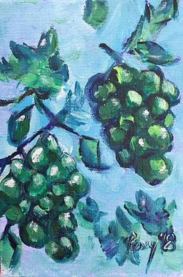 Food And Beverage Painting - Tomorrow Chardonnay by Roxy Rich