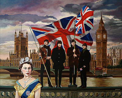 Union Bridge Painting - Tomorrow Never Knows by Jo King
