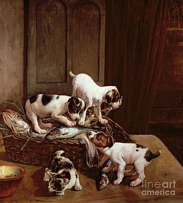 Cats And Dogs Painting - Tomorrow Will Be Friday by John Hayes