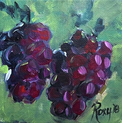 Food And Beverage Painting - Tomorrows Cabernet by Roxy Rich