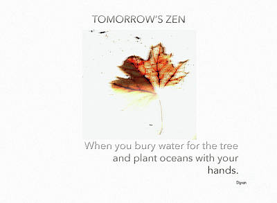 Hands Photograph - Tomorrow's Zen  by Steven Digman
