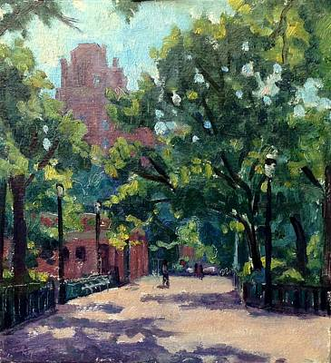 Painting - Tompkins Square Morning by Thor Wickstrom