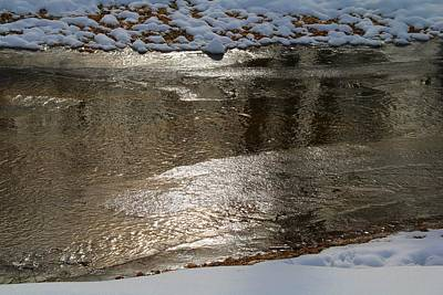 Photograph - Toms Creek Ice by Kathryn Meyer