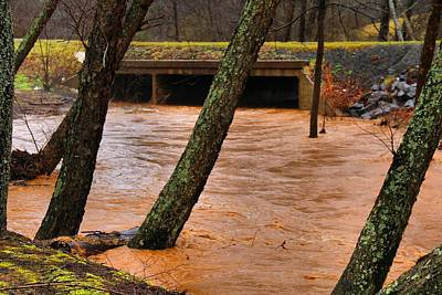 Photograph - Toms Creek In Flood by Kathryn Meyer