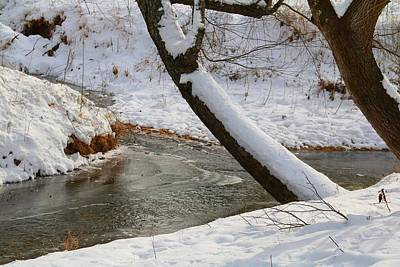 Photograph - Toms Creek In The Snow 1 by Kathryn Meyer