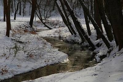 Photograph - Toms Creek In The Snow 2 by Kathryn Meyer