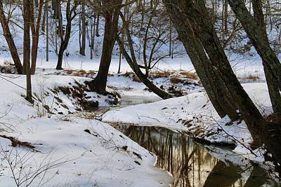Photograph - Toms Creek In Winter 2 by Kathryn Meyer