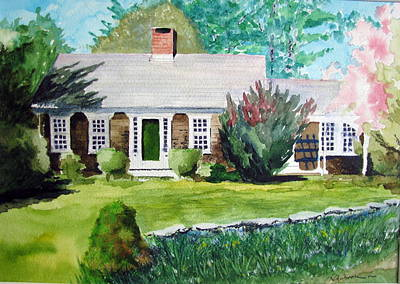 Toms House Art Print by Ron Imbriglio