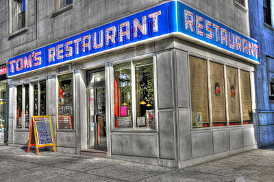 City Scenes Royalty-Free and Rights-Managed Images - Toms Restaurant of Seinfeld Fame by Randy Aveille
