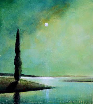 Tonalist Painting - Tonalist Tree by Toni Grote