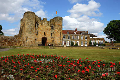 Tonbridge Castle Gardens Kent England Print by James Brunker
