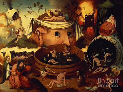 Tondals Vision Print by Hieronymus Bosch