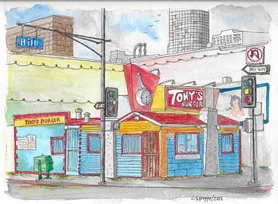 Tony Burger, Downtown Los Angeles, California Original by Carlos G Groppa