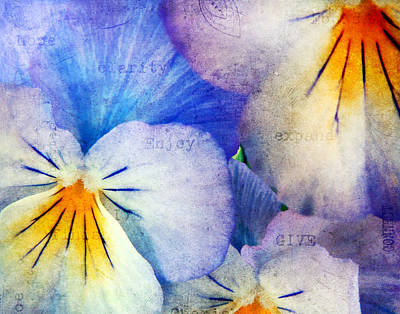 Whimsical Flowers - Tones of Blue by Darren Fisher