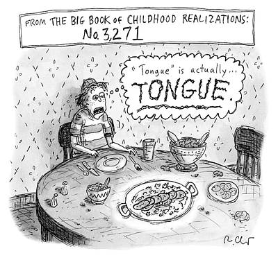 Drawing - Tongue by Roz Chast