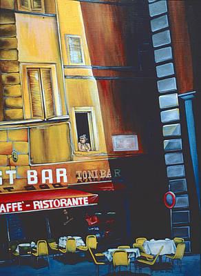 Wall Art - Painting - Toni Bar, Roma, Italy by Gaye Elise Beda