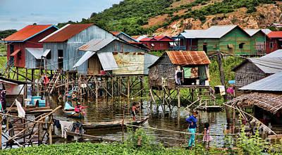 Tonle Sap Boat Village Cambodia Art Print