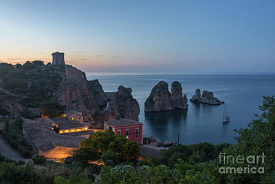 Photograph - Tonnara And Faraglioni Rocks In Scopello At Dusk by IPics Photography