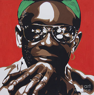 Painting - Tony Allen. The Greatest Drummer. by Nancy Mergybrower