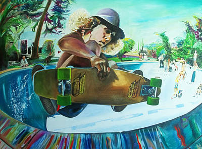 Skateboard Painting - Tony Alva by Lee Madrid